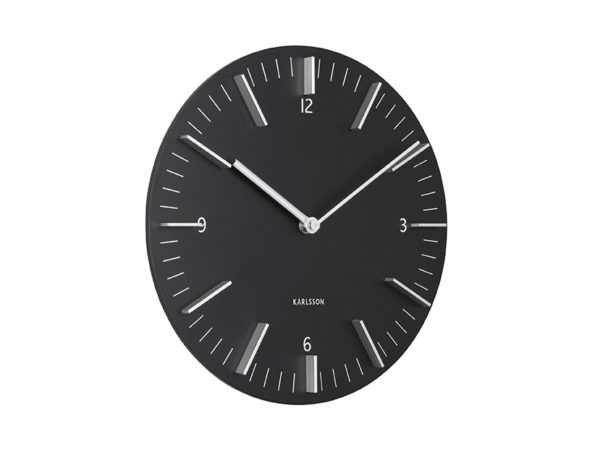 Wall Clock Detailed - Black Karlsson Klok KA5782BK