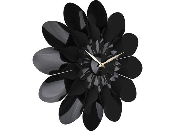 Wall Clock Flower - Black Karlsson Klok KA5731BK