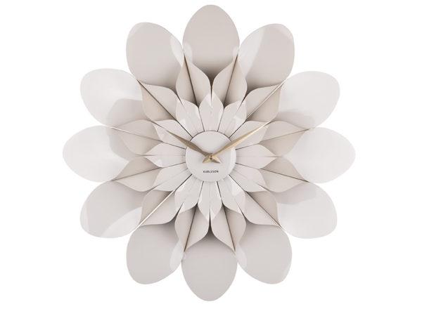 Wall Clock Flower - Warm grey Karlsson Klok KA5731GY
