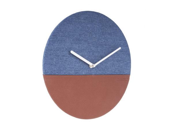 Wall Clock Leather & Jeans - Blue Karlsson Klok KA5701BL
