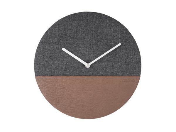 Wall Clock Leather & Jeans - Grey Karlsson Klok KA5701GY