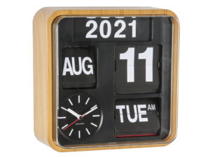 Wall Clock Mini Flip - Bamboo Karlsson Klok KA5364WD