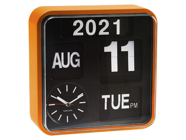 Wall Clock Mini Flip - Orange Karlsson Klok KA5364OR