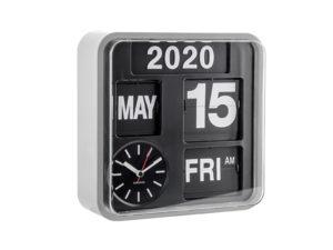 Wall Clock Mini Flip - Silver Karlsson Klok KA5364SI