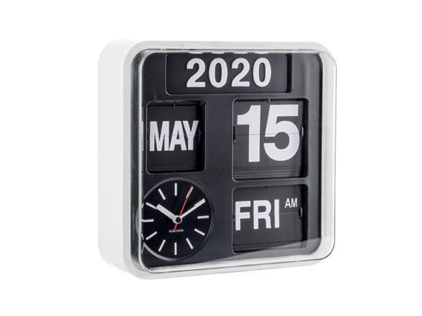 Wall Clock Mini Flip - White Karlsson Klok KA5364WH