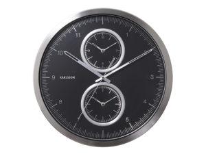 Wall Clock Multiple Time - Black Karlsson Klok KA5508BK