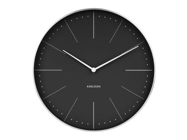 Wall Clock Normann Station - Black Karlsson Klok KA5681BK