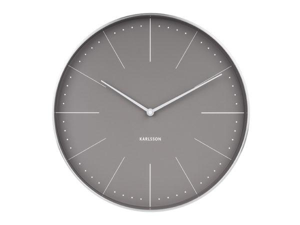 Wall Clock Normann Station - Warm grey Karlsson Klok KA5681GY
