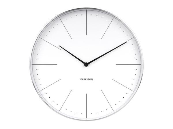 Wall Clock Normann Station - White Karlsson Klok KA5681WH