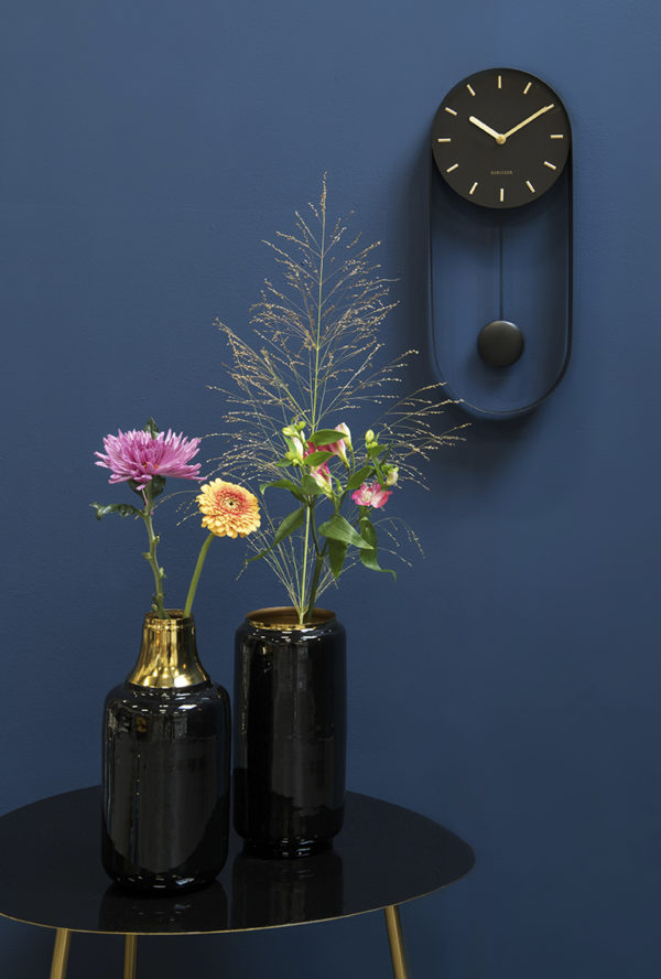 Wall Clock Pendulum Charm - Black Karlsson Klok KA5822BK