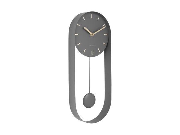 Wall Clock Pendulum Charm - Grey Karlsson Klok KA5822GY
