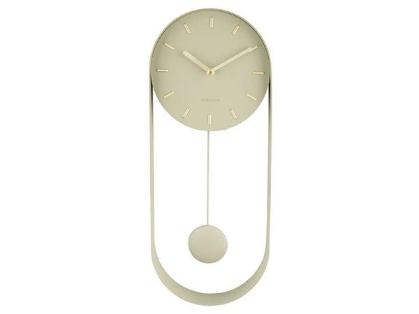 Wall Clock Pendulum Charm - Olive green Karlsson Klok KA5822OG