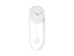 Wall Clock Pendulum Charm - White Karlsson Klok KA5822WH