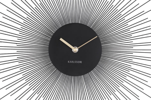 Wall Clock Peony Large - Black Karlsson Klok KA5818BK