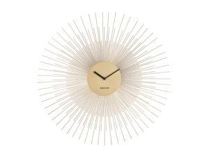 Wall Clock Peony Large - Gold Karlsson Klok KA5818GD