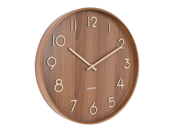 Wall Clock Pure Large - Dark wood Karlsson Klok KA5810DW