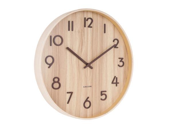 Wall Clock Pure Large - Walnut Karlsson Klok KA5810WD