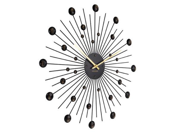 Wall Clock Sunburst Large - Black Karlsson Klok KA4859BK
