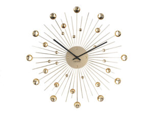 Wall Clock Sunburst Large - Gold Karlsson Klok KA4859