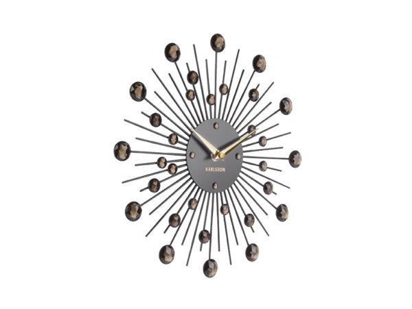 Wall Clock Sunburst Medium - Black Karlsson Klok KA4860BK