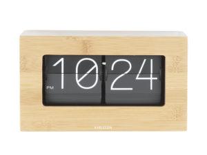 Wall / Table clock Boxed Flip - Bamboo Karlsson Klok KA5620WD