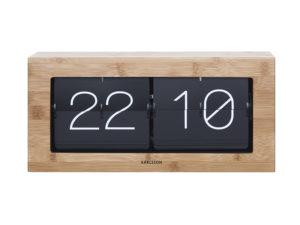 Wall / Table clock Boxed Flip XL - Bamboo Karlsson Klok KA5642WD