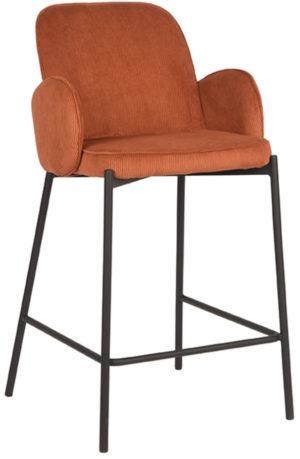 LABEL51 Barkruk Jari - Rust - Ribcord Rust Barstoel