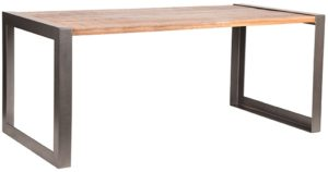 LABEL51 Eetkamertafel Factory - Rough - Mangohout - 180x90 cm Rough Eettafel