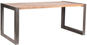 LABEL51 Eetkamertafel Factory - Rough - Mangohout - 220x95 cm Rough Eettafel