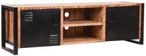 LABEL51 Tv-meubel Brussels - Naturel - Mangohout - 160 cm Naturel Tv-meubel|Tv-dressoir