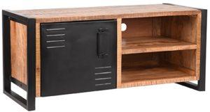 LABEL51 Tv-meubel Brussels - Rough - Mangohout - 115 cm Rough Tv-meubel|Tv-dressoir