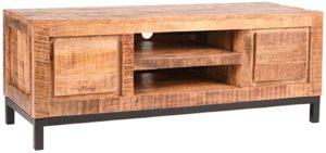 LABEL51 Tv-meubel Ghent - Rough - Mangohout - 120 cm Rough Tv-meubel|Tv-dressoir