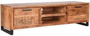 LABEL51 Tv-meubel Glasgow - Rough - Mangohout - 160 cm Rough Tv-meubel|Tv-dressoir