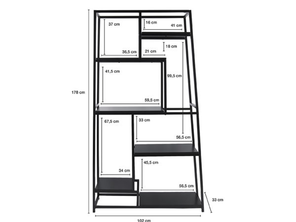 Book Shelf Fushion - White Leitmotiv Woonaccessoire LM1375