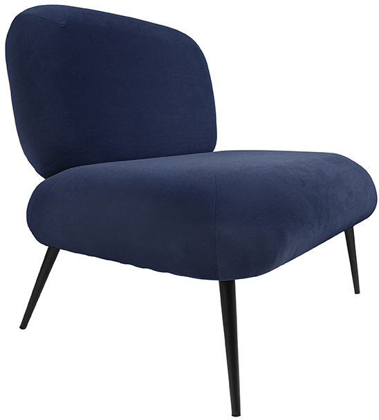 Chair Puffed - Dark blue Leitmotiv Woonaccessoire LM1963BL