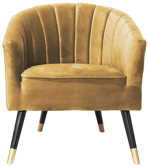 Chair Royal - Ochre yellow Leitmotiv Woonaccessoire LM1851BR