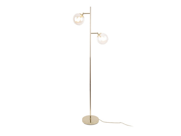Floor Lamp Shimmer - Dark wood Leitmotiv Woonaccessoire LM1912GD