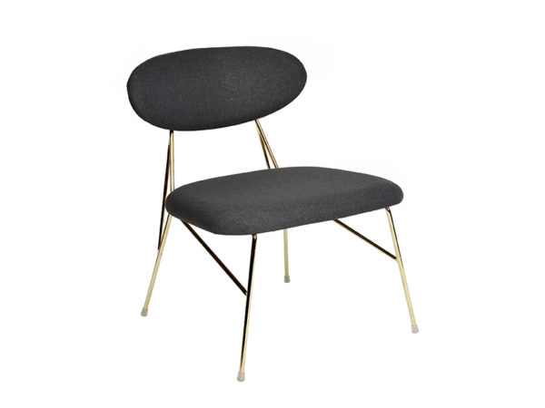 Loung Chair Queen - Black Leitmotiv Woonaccessoire LM1916BK