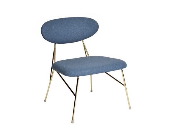 Loung Chair Queen - Jeans blue Leitmotiv Woonaccessoire LM1916BL