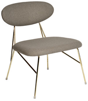 Loung Chair Queen - Warm grey Leitmotiv Woonaccessoire LM1916GY