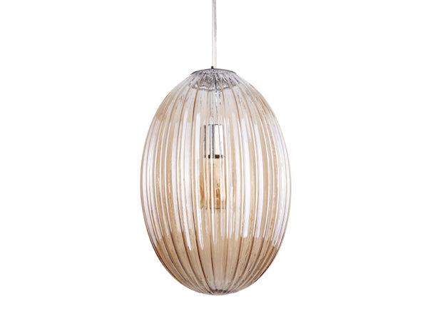 Pendant Lamp Smart Oval Large - Amber brown Leitmotiv Woonaccessoire LM1903BR
