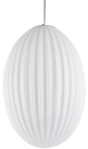 Pendant Lamp Smart Oval Large - White Leitmotiv Woonaccessoire LM1903WH