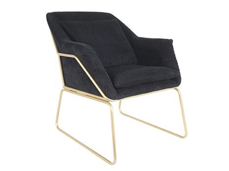 Relax Chair Glam - Black Leitmotiv Woonaccessoire LM1789