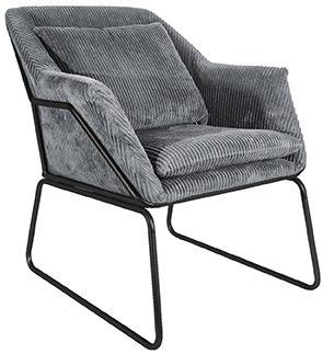 Relax Chair Glam - Dark grey Leitmotiv Woonaccessoire LM1834