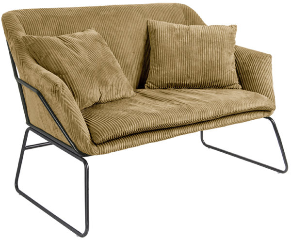Sofa Glam - Caramel brown Leitmotiv Woonaccessoire LM1807