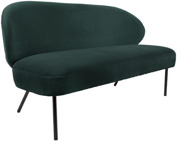 Sofa Puffed - Dark green Leitmotiv Woonaccessoire LM1964GR