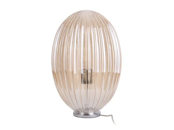 Table Lamp Smart Oval Large - Amber brown Leitmotiv Woonaccessoire LM1905BR