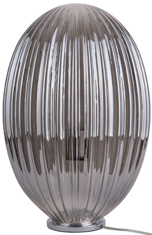 Table Lamp Smart Oval Large - Smokey grey Leitmotiv Woonaccessoire LM1905GY