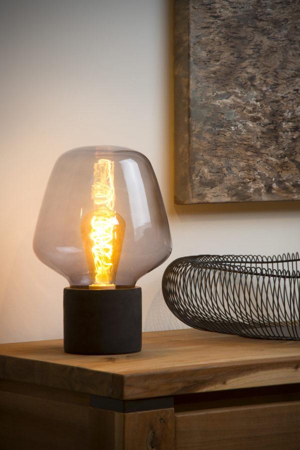 Becky tafellamp - grijs Lucide Tafellamp 45569/01/65