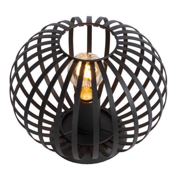 Manuela tafellamp - zwart Lucide Tafellamp 78574/25/30